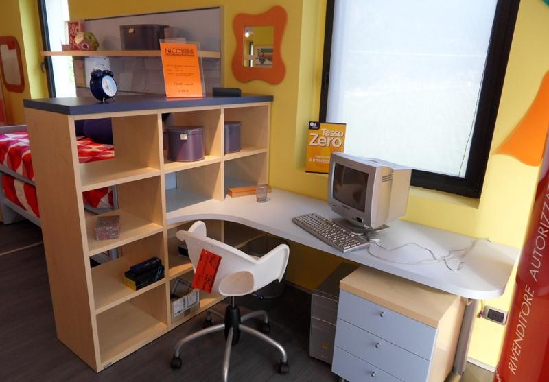 Libreria, scrivania e cassettiera