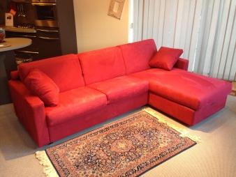 Nicoletti arredamenti - Divano letto angolare rosso ...